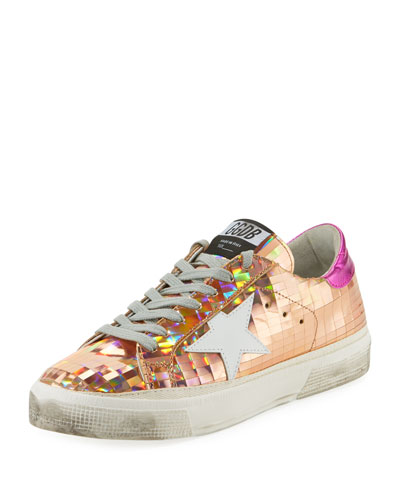 May Star Disco Ball Low-Top Platform Sneakers
