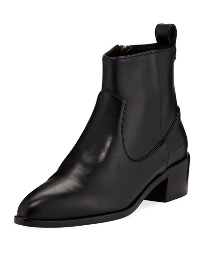 Tanner Leather Ankle Booties