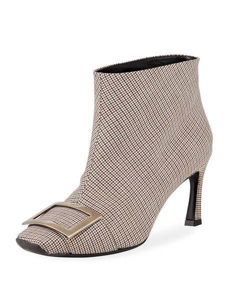 Trompette Houndstooth Ankle Boot in Multicoloured