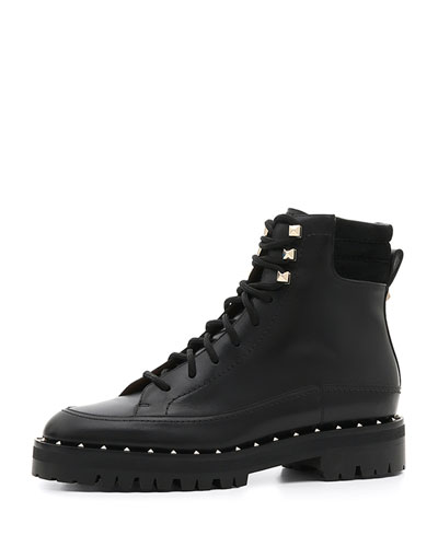 Soul Rockstud Leather Combat Boots