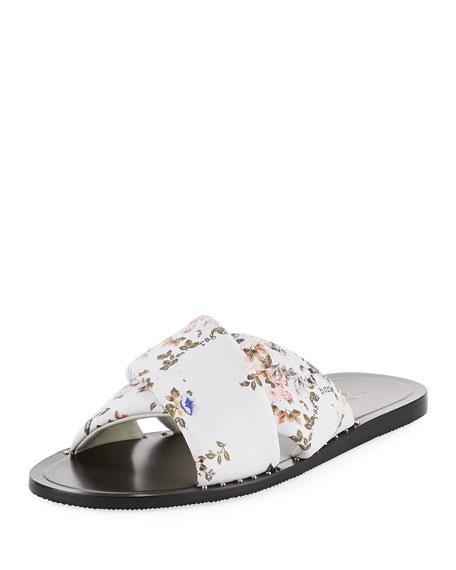 6e44074e7d13 Rag   Bone Keaton Floral-Print Flat Leather Slide Sandal