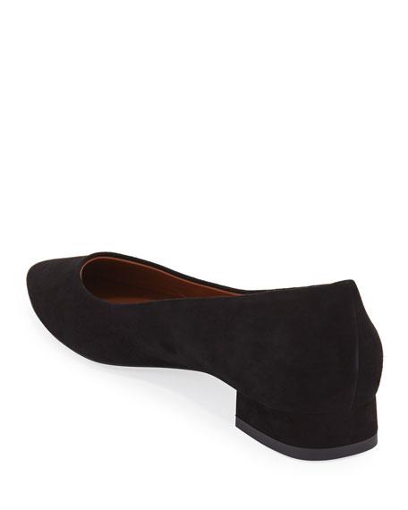 Penina Suede Rubber-Sole Ballet Flats