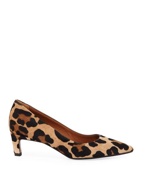 Melina Leopard-Print Calf Hair Pumps