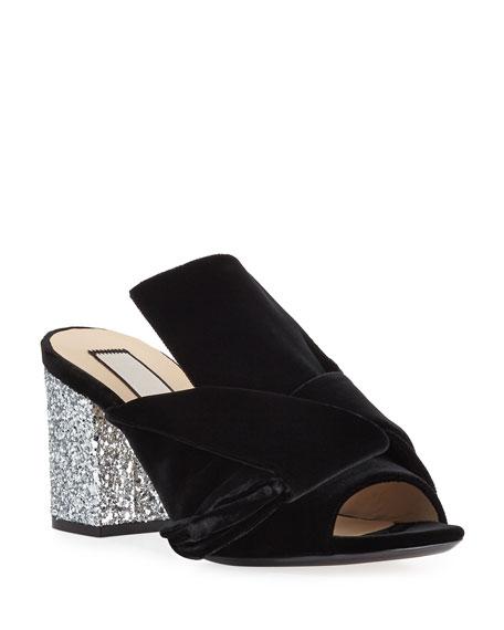 d083f75cea8 No. 21 Velvet Block-Heel Sandals