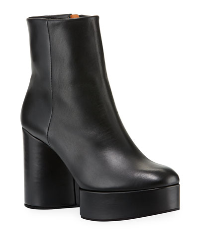 Belent Leather Platform Booties
