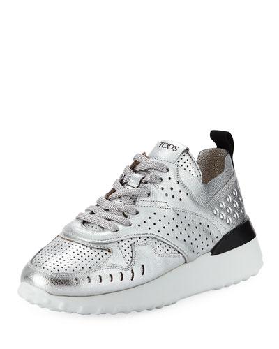 Metallic Platform Running Sneaker