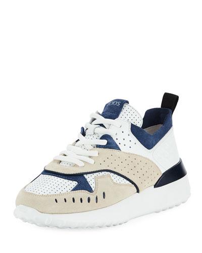 Mixed Platform Running Sneaker