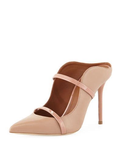 Maureen High-Heel Leather Mules