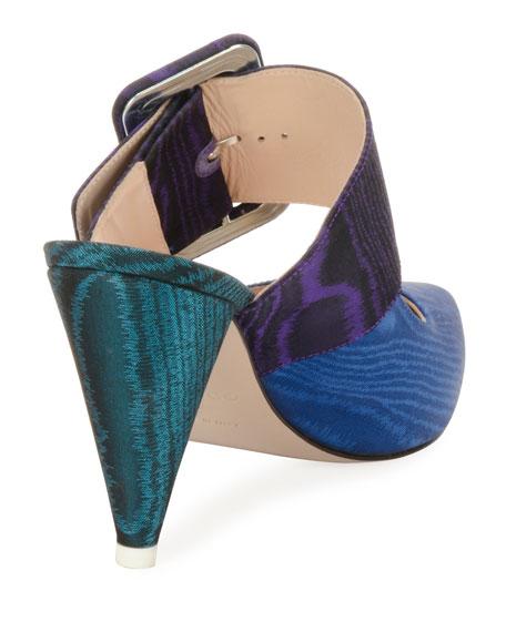 Chloe Colorblock Slide Mules