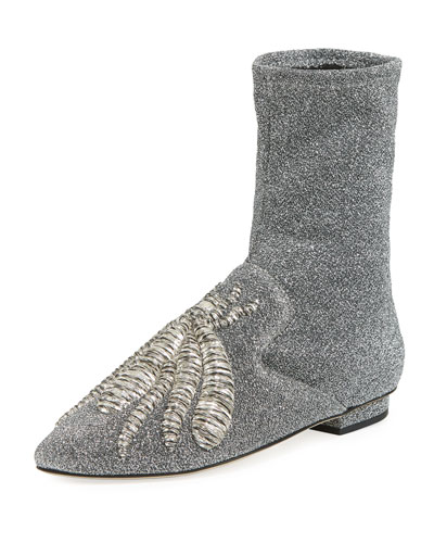 Ragno Glitter Sock Slipper Booties