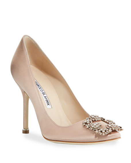 4a2630722903 Manolo Blahnik Hangisi 105mm Satin Pumps