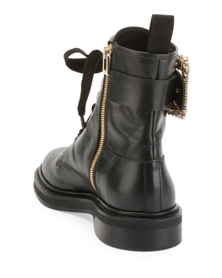 765c6056c44 Viv Rangers Strass Leather Lace-Up Booties