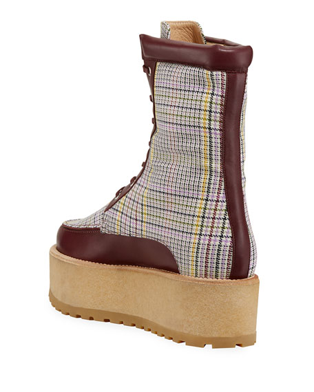 David Boots with Plaid Print