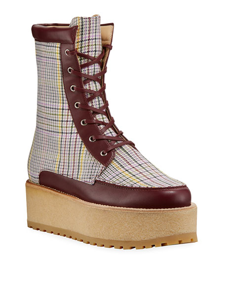 Gabriela Hearst David Boots with Plaid Print