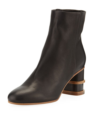 Miguel Two-Tone Booties