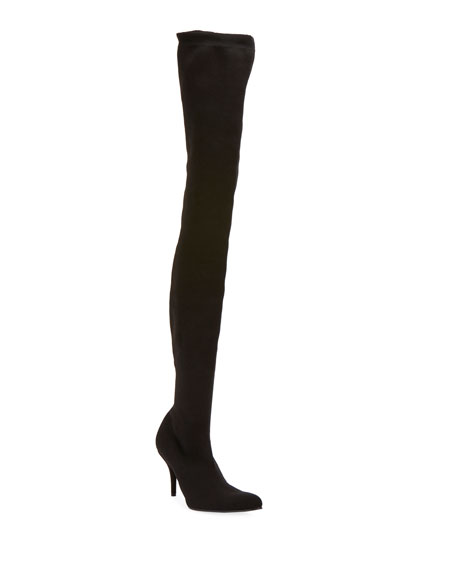 Sock-Knit Over-the-Knee Boots