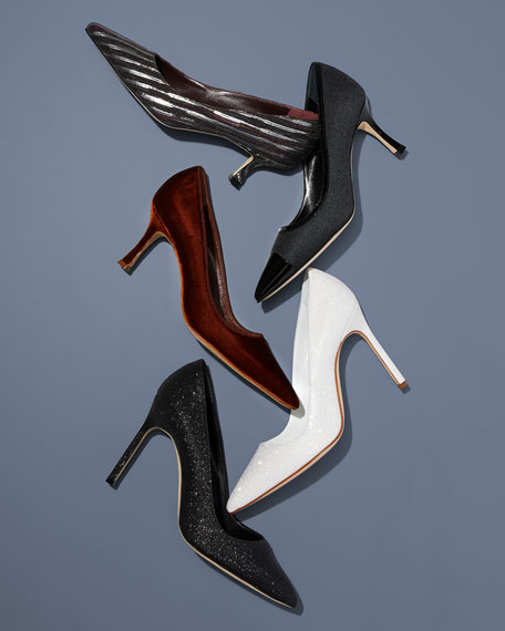 BB Striped Calf Hair Pumps