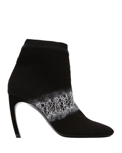 Kim Ombre Felt Curve-Heel Ankle Boots