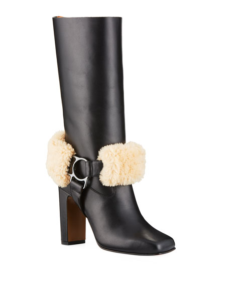 e1d0b634e Off-White For Riding Leather Harness Boots