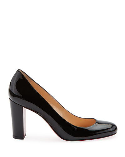 Lady Gena Patent Red Sole Pumps