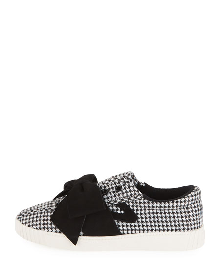 cb3759350f5c Tretorn NYLite Lace-Up Houndstooth Sneakers w/ Bow