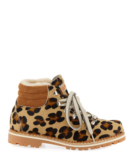 Margherita Fur Lace-Up Boots