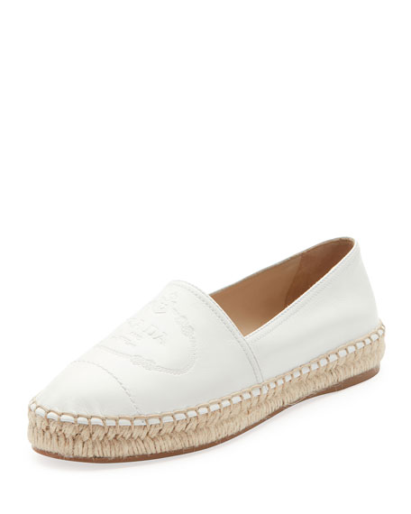 Slip-On Leather Logo Espadrilles