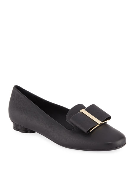 Sarno Leather Bow Loafers