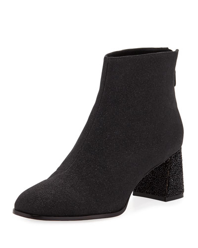 Stella Glitter Mid-Heel Ankle Boots