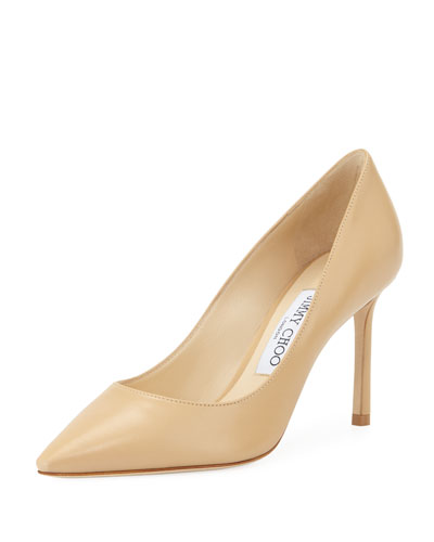 Romy 85mm Kidskin Leather Pumps