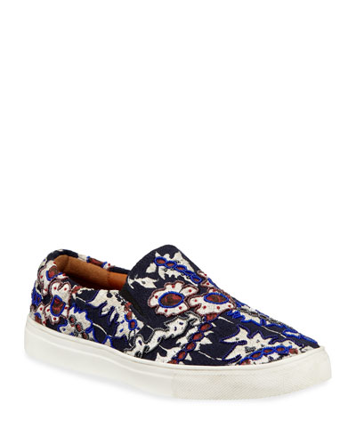 Karita Embroidered Slip-On Sneakers