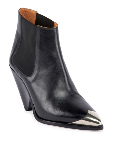 Lemsey Leather Ankle Booties