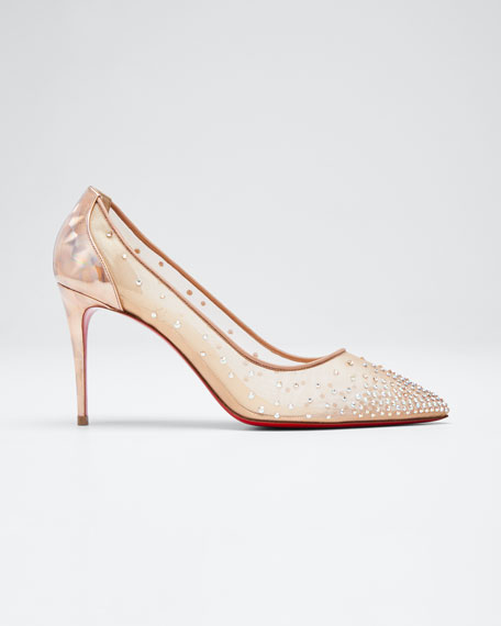 Christian Louboutin Follies Strass Red Sole Pumps