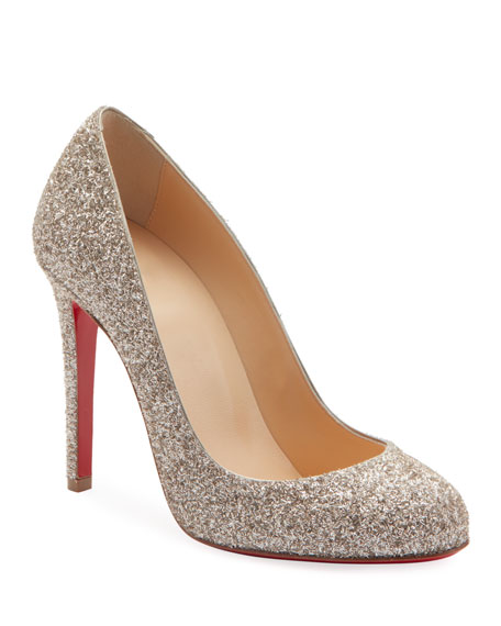 589bf4d1be91 Christian Louboutin Fifille Glitter 100mm Pumps