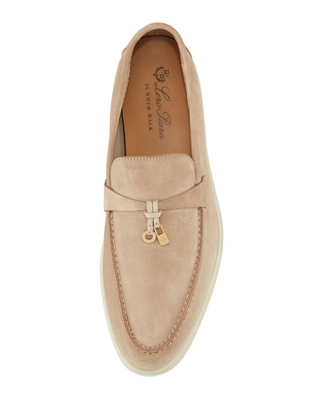 e4437c61439 Loro Piana Summer Charms Walk Suede Loafers