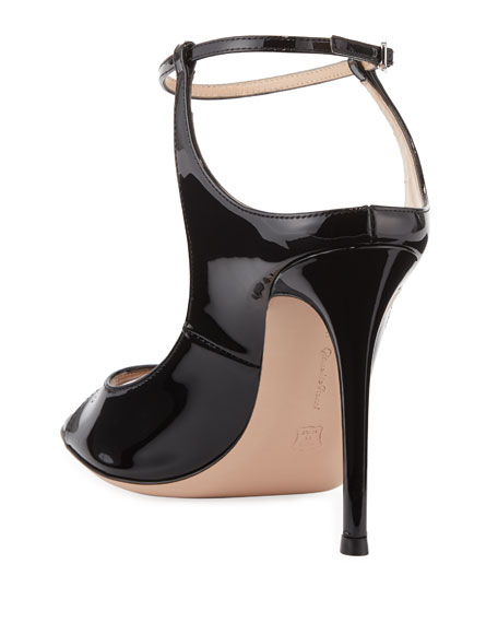 Shiny Ankle-Strap Sandals