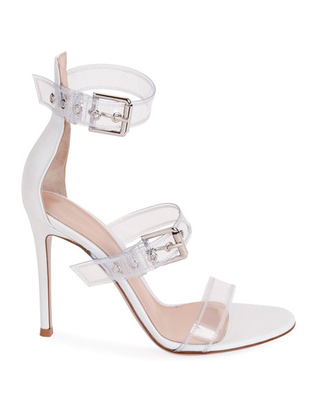 c9774324e24 Plexi Three-Buckle Sandals