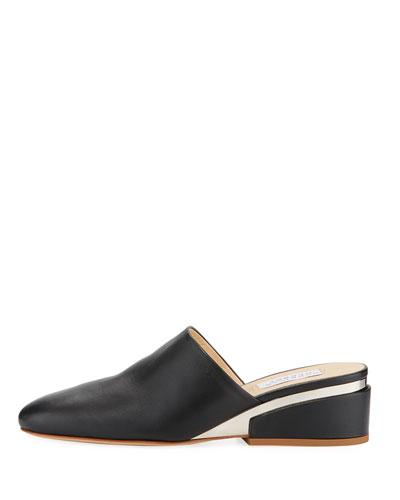 Adele Leather Slide Mules