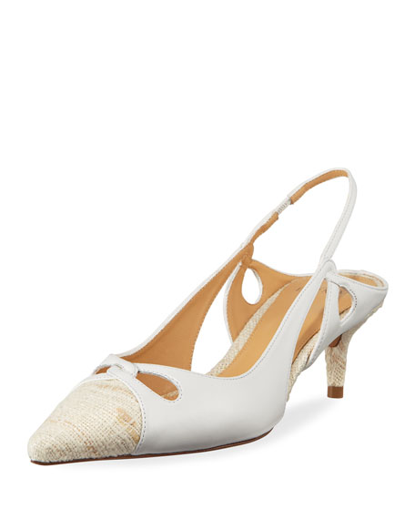 Alexandre Birman Nanny Mixed Slingback Pumps