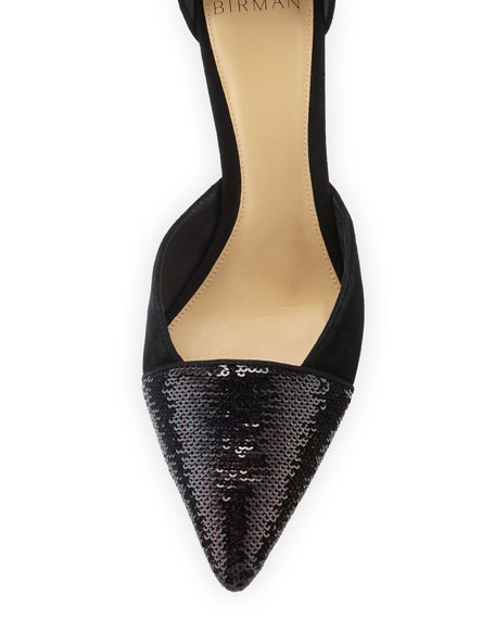 Clarita Suede Sequined Pumps