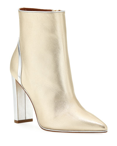 Francois Luwolt Metallic Booties