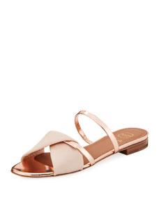 Teresa Luwolt Metallic Flat Sandals by Malone Souliers
