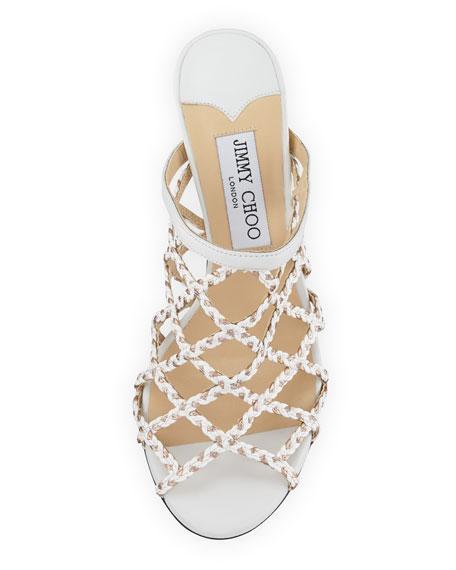 Dean Braided Rope Cutout Slide Sandals