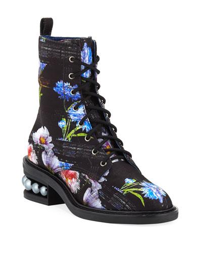 e11b8f0fa101 Casati Perfection Digital-Print Combat Boots Quick Look. Nicholas Kirkwood