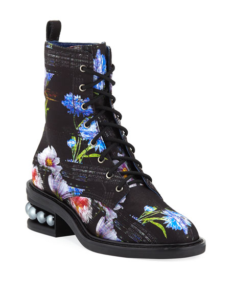 Casati Perfection Digital-Print Combat Boots