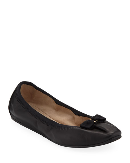 f8edaa665 Salvatore Ferragamo My Joy Leather Slip-On Ballet Flats