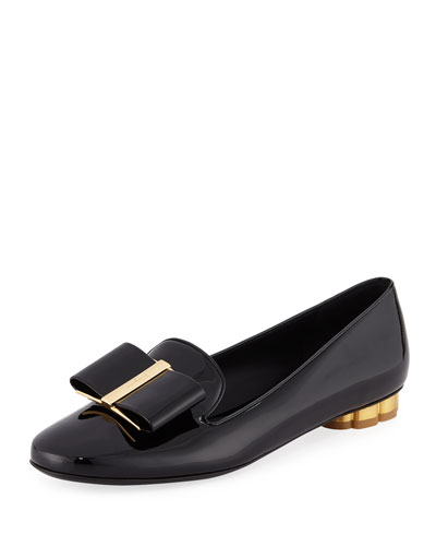 Sarno Patent Leather Bow Loafers