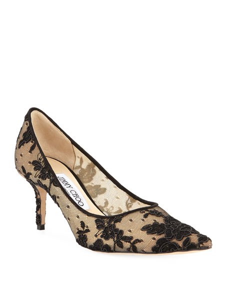 13e21484e90 Jimmy Choo Love Embroidered Mesh Pumps