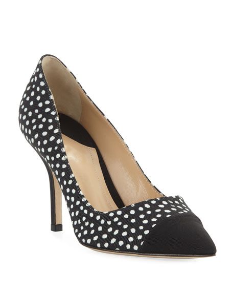 Paul Andrew Pump It Up Dotted Pointed Cap-Toe