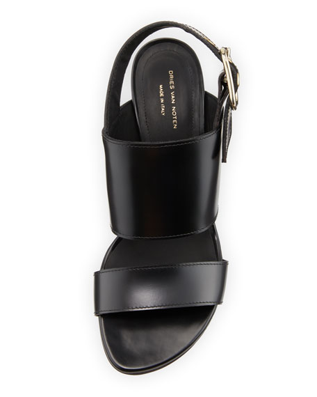 Calf Leather Slingback Sandals